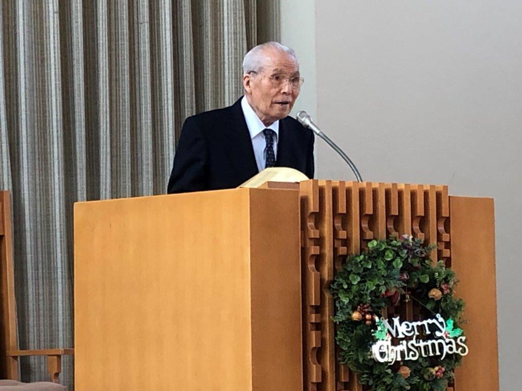 若松バプテスト教会の今村幸文先生、最後の礼拝説教のイメージ