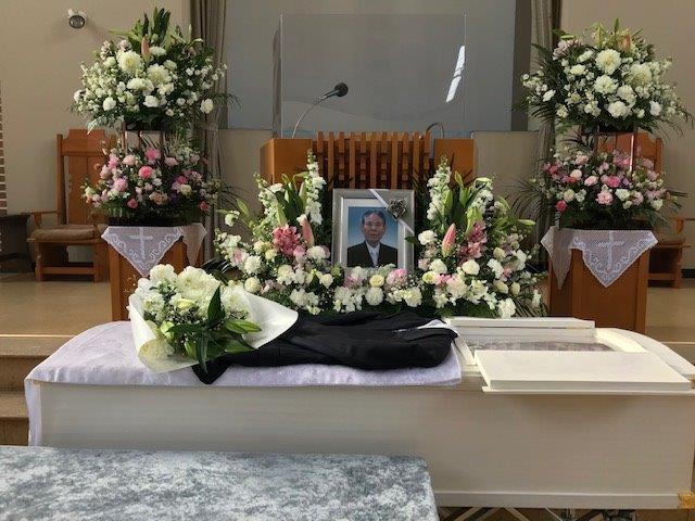 若松バプテスト教会会員F兄の葬儀のイメージ